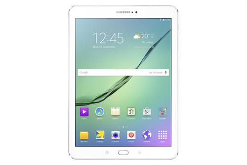 The Samsung Galaxy S2 Tab white version.
