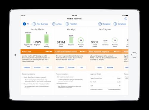 IBM's Advisor Alerts for financial professionals