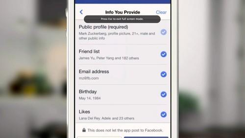 Facebook is giving more control over the info you provide to log into apps