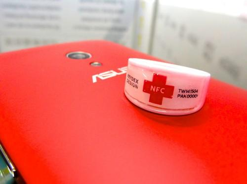 The Keydex NFC Ring from Union Genius Computer, displayed at Computex 2015 in Taipei June 4, can transmit a user's profile information to smartphones via NFC. It can also be used to unlock phones, link to medical data and make electronic payments.