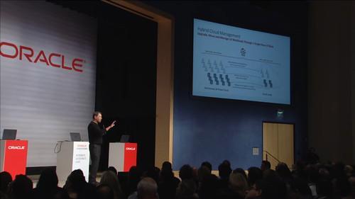 Larry Ellison speaks at the Oracle Cloud Platform launch June 22, 2015