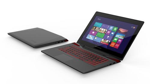 The Lenovo Y50 can be ordered with a backlit keyboard and a display with a resolution of up to 3840 by 2160 pixels.
