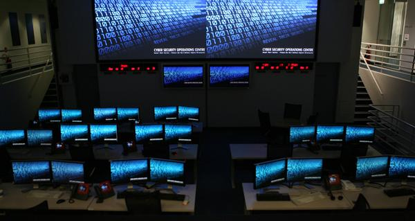 The Federal Government has received sensitive data from utilities, banks and other organisations for the Critical Infrastructure Protection Modeling and Assessment (CIPMA) program. Pictured: The Cyber Security Operations Centre (CSOC) opened in January