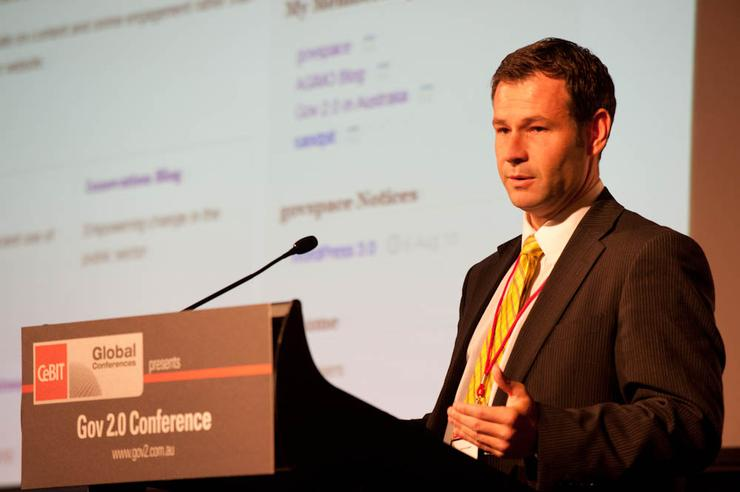 AGIMO assistant secretary of online services branch, Peter Alexander, talks at the recent Gov 2.0 conference