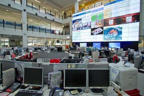 The NEC digital video wall in use at the NSW Rural Fire Service command centre in Homebush, NSW.
