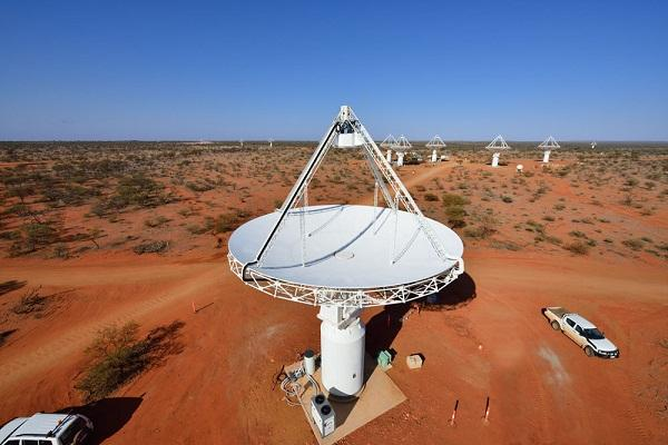 An Australian Square Kilometre Array Pathfinder (ASKAP) telescope dish at Murchison Radio-astronomy Observatory (MRO) in Western Australia. ASKAP opened today and, according to CSIRO, will generate more information than is contained in the US Library of Congress on its first full day of operation.