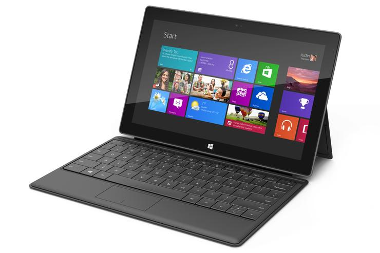 The Microsoft Surface RT tablet