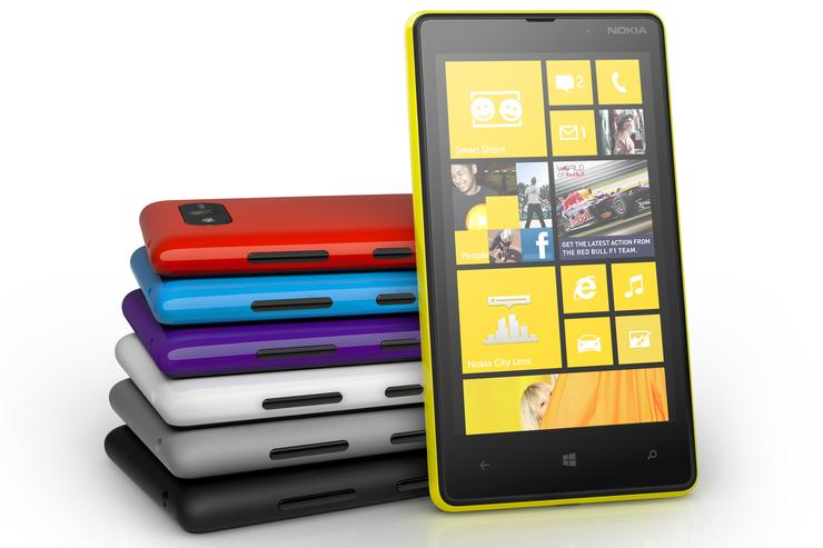 The Nokia Lumia 820, now available through Vodafone.