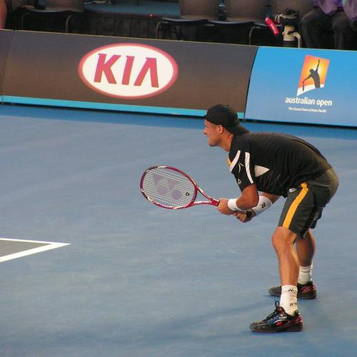 Lleyton Hewitt's performance last night was measured and analysed by IBM systems. Credit: Adam Bender.