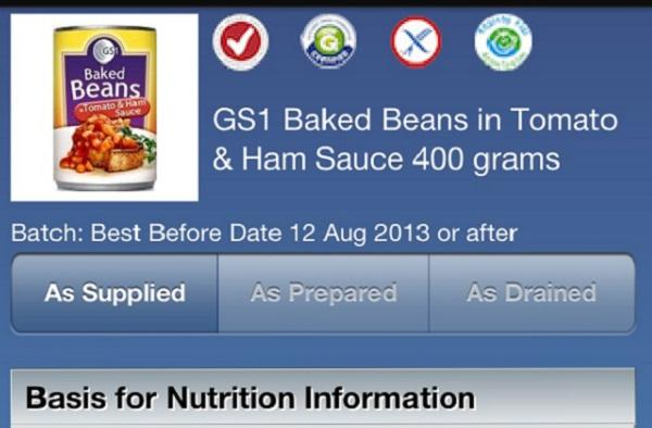 A screenshot of the GoScan iPhone app.