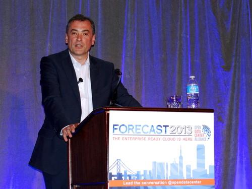 Mario Mueller, VP of IT infrastructure at BMW and chair of the Open Data Center Alliance, speaks at the Forecast 2013 conference in San Francisco June 17