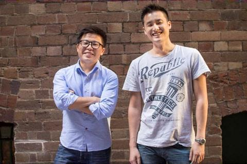 Airtasker co-founders Tim Fung (left) and Jonathan Lui.