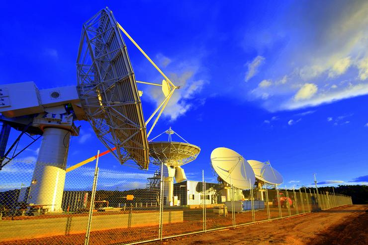 NBN Co's Wolumla ground station. Image credit: NBN Co.