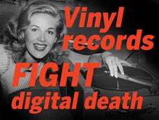 In Pictures: Vinyl records fight digital death