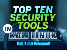 In Pictures: Top 10 security tools in Kali Linux 1.0.6