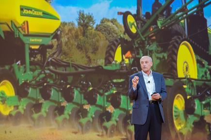 Patrick Pinkston, John Deere: The next opportunity for agriculture is to seamlessly connect people, technology and insights to uncover new opportunities to deliver more products in a sustainable fashion.