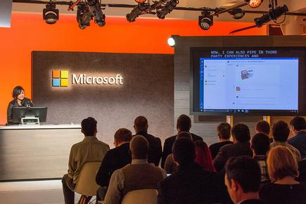 Microsoft Teams Principal UX Architect, Mira Lane, demoed the new experience.