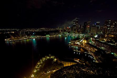 Sydney with the lights off for Earth Hour. Image: Erik Panch