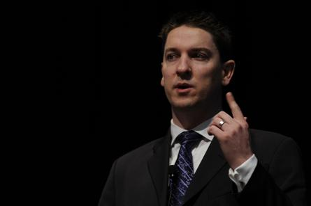 Tabcorp chief information security officer, Troy Braban speaking at the 2011 CIO Summit