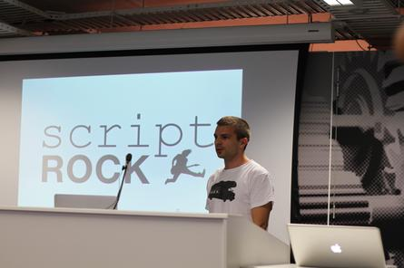 ScriptRock co-founder, Alan Sharp-Paul, presenting at the University of New South Wales' Tech Startup Expo 2012