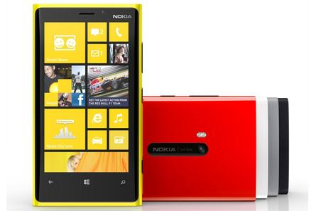 The upcoming Nokia Lumia 920 Windows Phone.