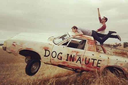 triple j Road Trip Relay contributor Jonathon Jones having fun on an old ute in Bulyee, Western Australia. The image was uploaded to the Relay website via Instagram. Photo courtesy of Jonathon Jones and the ABC Open.