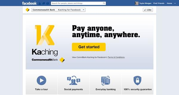 Kaching on Facebook launches in January. Credit: Commonwealth Bank