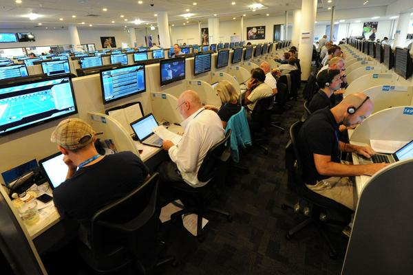 The media room at the Australian Open.