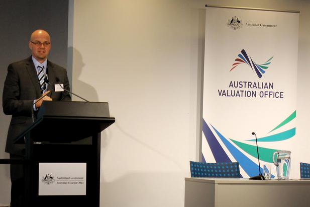 AVO general manager Brett Martin launches the organisation's new corporate identity.