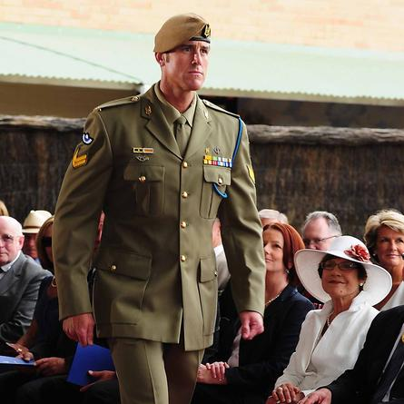 Corporal Ben Roberts-Smith at the presentation of his Victoria Cross. Credit: Defence Department.