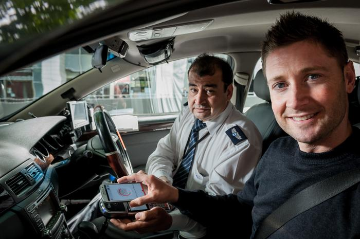 Vodafone SmartPass in a cab.
