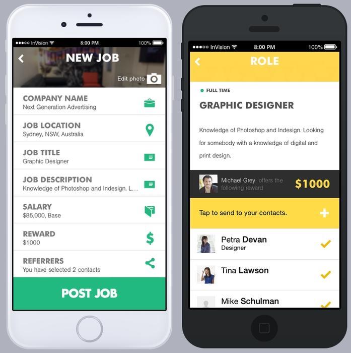 Posting a job in the Reffind app. Credit: Reffind