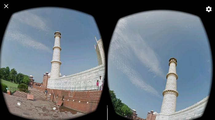 "Being able to ""walk"" along the outside of the temple and look up - navigating using the controller like a kind of virtual white stick - is far more immersive than watching Aunty Doris' old slide show."